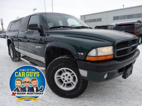 Pre-Owned 2000 Dodge Dakota Sport | Alloy Wheels, Bench Seating. 4WD Extended Cab Pickup
