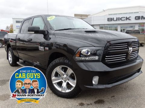 Pre-Owned 2017 Ram 1500 Sport | One Owner, Sunroof. 4WD Crew Cab Pickup
