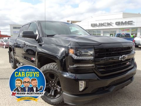 Certified Pre-Owned 2017 Chevrolet Silverado 1500 LTZ | One Owner, Rear View Camera. 4WD Crew Cab Pickup