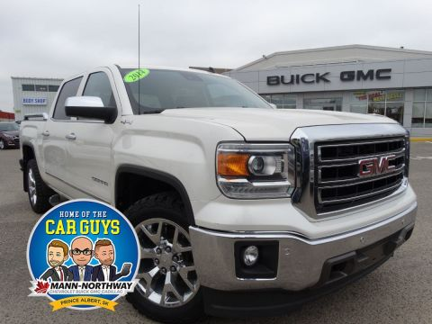 Pre-Owned 2014 GMC Sierra 1500 SLT | Remote Start, Tow Package. 4WD Crew Cab Pickup